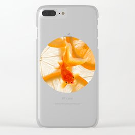 Orange Fish Clear iPhone Case