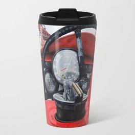 Old racing red car Travel Mug
