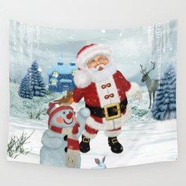 Funny Santa Claus Wall Tapestry