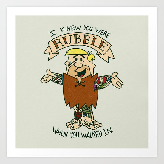 RUBBLE x SWIFT COLLAB Art Print