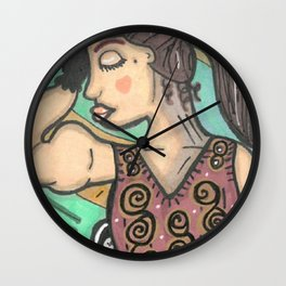 Strong Woman Wall Clock