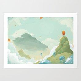 Mass Jellyfish Exodus Art Print