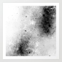 Creeping Black - Abstract black and white Art Print