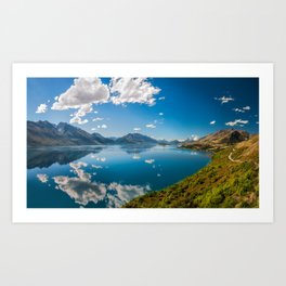 Breathtaking View from a famous scenic Lookout at Lake Wakatipu Art Print
