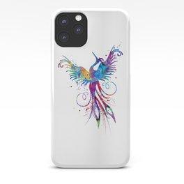 Phoenix Watercolor Print Nursery Art Gift for Her Bird Art iPhone Case