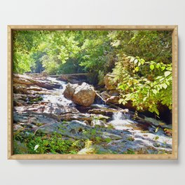 Mountain Waterfall Serving Tray