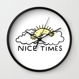Nice Times Sunshine Wall Clock