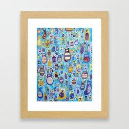 Owl Roosting Framed Art Print