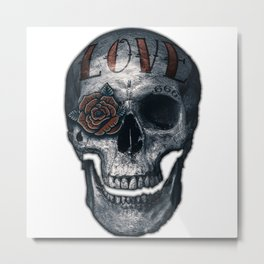 Love Skull Metal Print