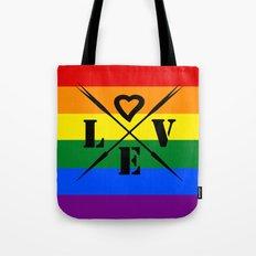 Rainbow color .  love Tote Bag