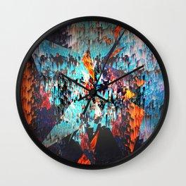 Fire Spikes - 2016.02 Wall Clock