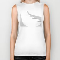 airplane Biker Tanks featuring Airplane by ONEDAY+GRAPHIC