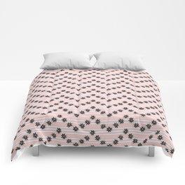 Night Blooming Cereus in Herringbone Comforters