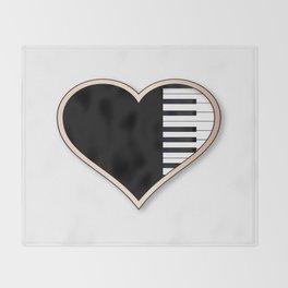 Love Piano Throw Blanket
