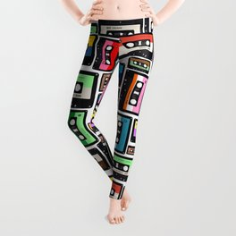 Cassette Vinyl Record  Leggings