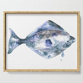 Flat Fish Watercolor Serving Tray