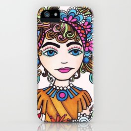 Style Girl - No 21 - Doodle Drawing iPhone Case