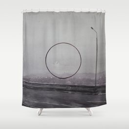 ROAD AND CIRCLE. Warecolor painting Shower Curtain
