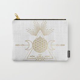 Golden Goddess Mandala Carry-All Pouch