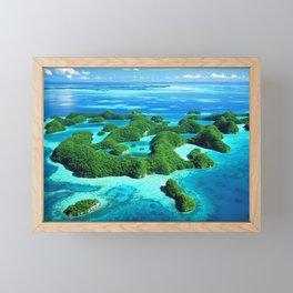 Palau Island Paradise Framed Mini Art Print