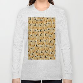shibe doge fun and funny meme adorable Long Sleeve T-shirt