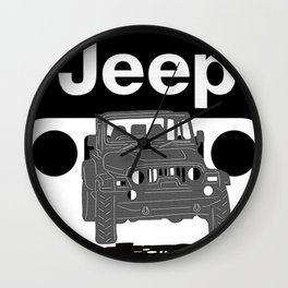 Jeep On the road Wall Clock