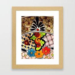 Beautiful Red and Green Talavera Framed Art Print