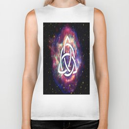 galaxy with triquetra  Biker Tank