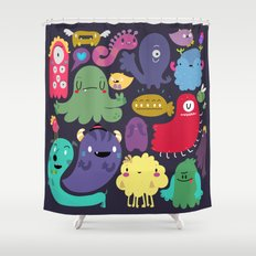 Colorful creatures Shower Curtain