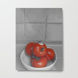 A Splash of Tomato Metal Print