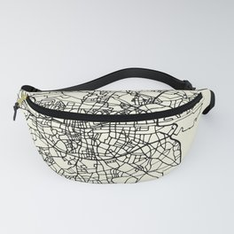 DUBLIN Ireland City Street Map Fanny Pack