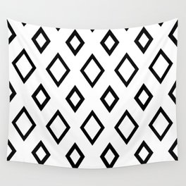 Abstract geometric pattern - black and white. Wall Tapestry
