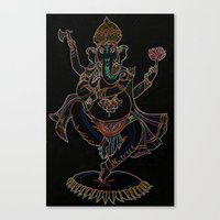 ganesh Canvas Prints featuring Ganesh by Zack Bryson