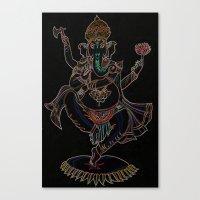 ganesh Canvas Prints featuring Ganesh by Zack Bryson