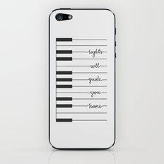 Piano Fix You lyrics iPhone & iPod Skin