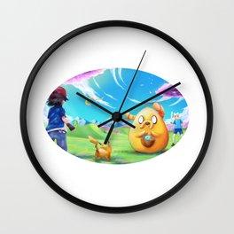 Ash meets Finn and Jake Wall Clock