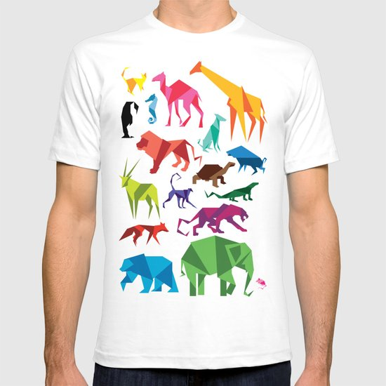 Paper Animals T Shirt By Blik Surface Graphics Society6