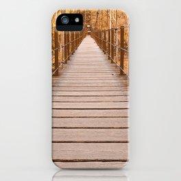 Golden Grove Suspension Bridge iPhone Case