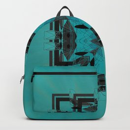 Turquoise Ornate Abstract Design Backpack