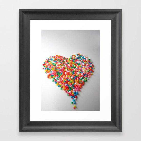 Colorful Heart Framed Art Print