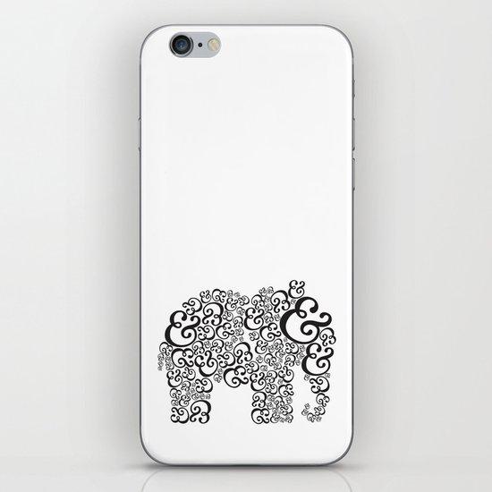 Ampersand Elephant iPhone & iPod Skin
