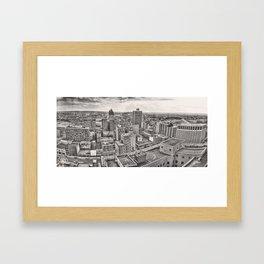Dayton Panorama 1978 Framed Art Print