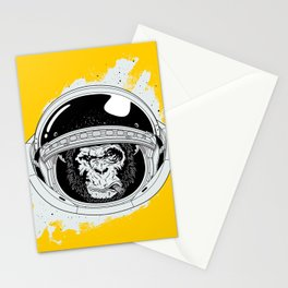 Monkey in white space Stationery Cards