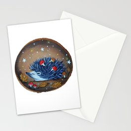 Magical Autumn Hedgehog With Forest Treasures Stationery Cards
