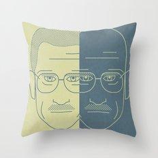 Breaking Bad - Faces - Double Walter White Throw Pillow