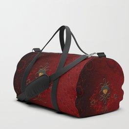 Wonderful hearts, vintage design Duffle Bag