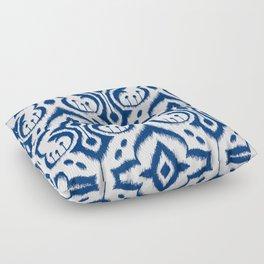 Ikat Damask Navy Floor Pillow