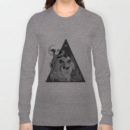 Black & White Scar Long Sleeve T-shirt