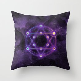 The Geometry of the Divine Throw Pillow