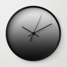 White to Black Horizontal Linear Gradient Wall Clock
